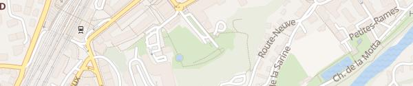 Karte Parking des Grand-Places Fribourg