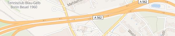 Karte Ramersdorf P+R Bonn