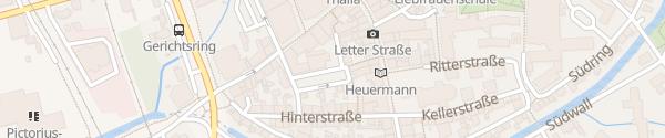 Karte Pfauengasse Coesfeld