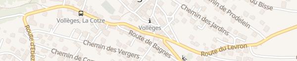 Karte Gemeindehaus Vollèges