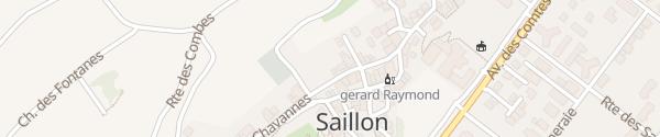 Karte Le Bourg Saillon