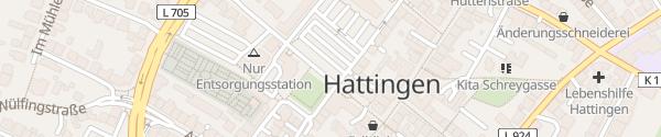 Karte Rathausplatz Hattingen