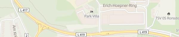 Karte Hotel Park Villa & Sanitätshaus Beuthel Wuppertal