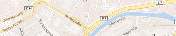 Karte Parkhaus Werther Carré Wuppertal