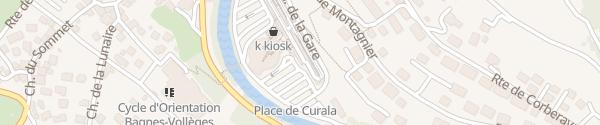 Karte Parking de la Gare Bagnes