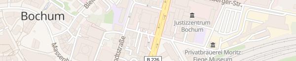 Karte Kundencenter Stadtwerke Bochum