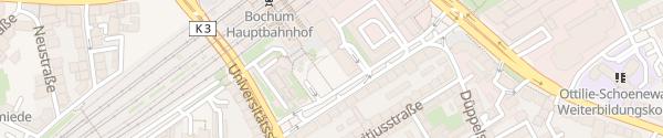 Karte Parkhaus P6 Hauptbahnhof Bochum