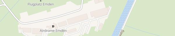 Karte Flugplatz Emden