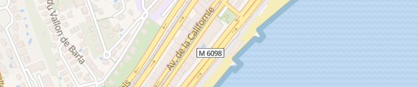 Karte Radisson Blu Hôtel Nice