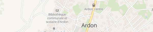 Karte Hall Populaire Ardon