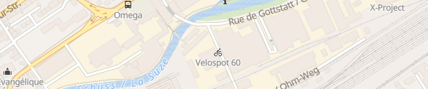 Karte Besucherparkplatz ESB-Hauptsitz Biel