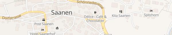 Karte Parkhaus Zentrum Saanen