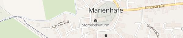 Karte EWE Ladesäule Marienhafe
