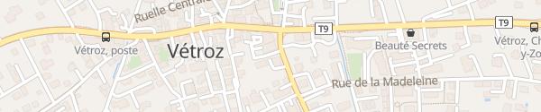 Karte Parking Avenue de Vergers Vétroz
