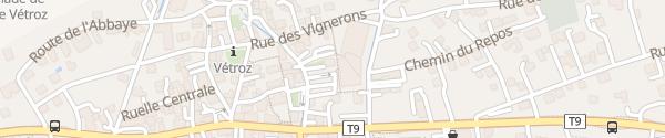 Karte Parking Rue du Moulin Vétroz