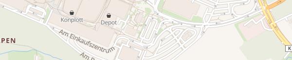 Karte Schnellladesäulen Ruhrpark Bochum