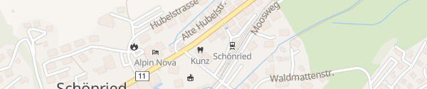 Karte Hotel Kernen Schönried