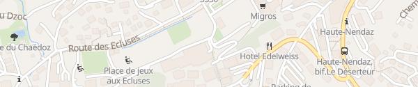 Karte Parkhaus Mer de Glace Haute-Nendaz