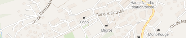 Karte Route des Ecluses Haute-Nendaz
