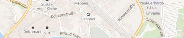 Karte Am alten Güterbahnhof Meppen