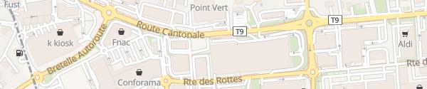 Karte Forum des Alpes, Aussenparkplätze Conthey