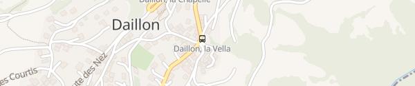 Karte Bushaltestelle La Vella Daillon