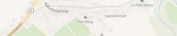 Karte Romantik Hotel Hornberg Saanenmoeser bei Gstaad