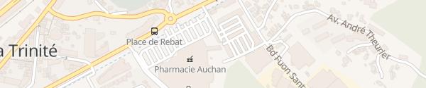 Karte Auchan - Nice La Trinité