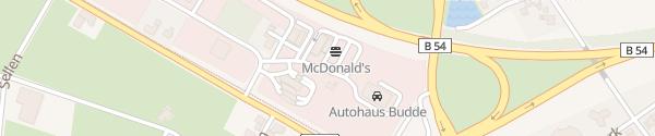 Karte McDonald's Steinfurt