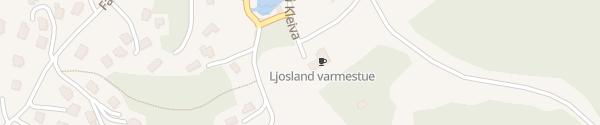Karte Ljosland Skisenter Åseral