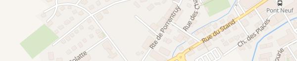 Karte Wohnmobilstellplatz Delémont