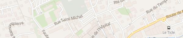 Karte Place de l'Étang Delémont