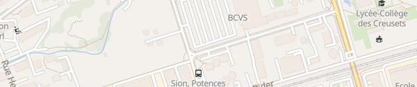 Karte Place des Potences Sion