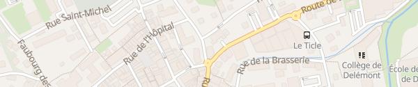 Karte Place de la Foire Delsberg