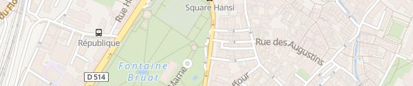 Karte Parking Place Rapp Colmar