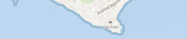 Karte Hôtel le Cap Estel Èze