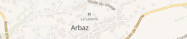 Karte Place du Marais Arbaz
