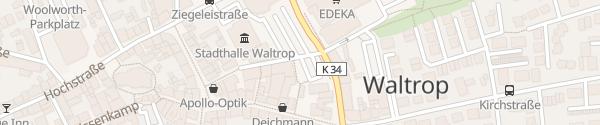Karte Raiffeisenplatz Waltrop