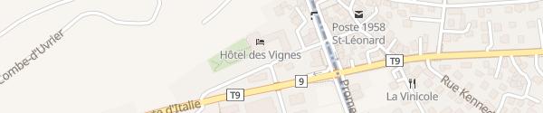 Karte Hôtel des Vignes Uvrier