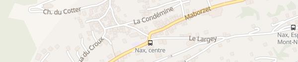 Karte La Place Nax