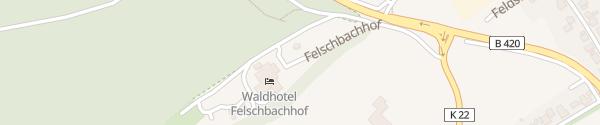 Karte Waldhotel Felschbachhof Ulmet