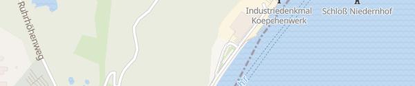 Karte Pumpspeicherkraftwerk Koepchenwerk Herdecke