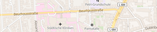 Karte Städtische Klinik Dortmund