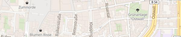 Karte Kleppingstraße Dortmund