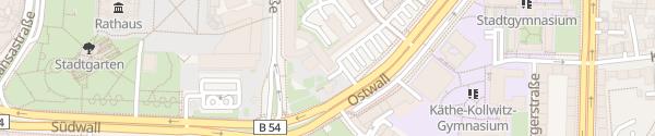 Karte Ostwall Dortmund