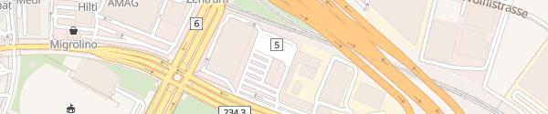 Karte Verkehrsprüfzentrum Bern