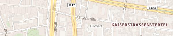 Karte Kaiserstraße Dortmund
