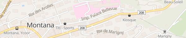 Karte Avenue de la Gare Montana
