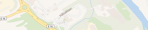Karte Supercharger Haabakken Kro Lærdal