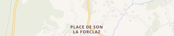 Karte Parking de la Forclaz La Forclaz